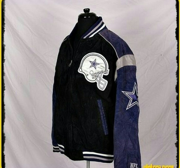 sports shoes 7a4fc f7ad1 Dallas Cowboys Official NFL Suede Leather Jacket